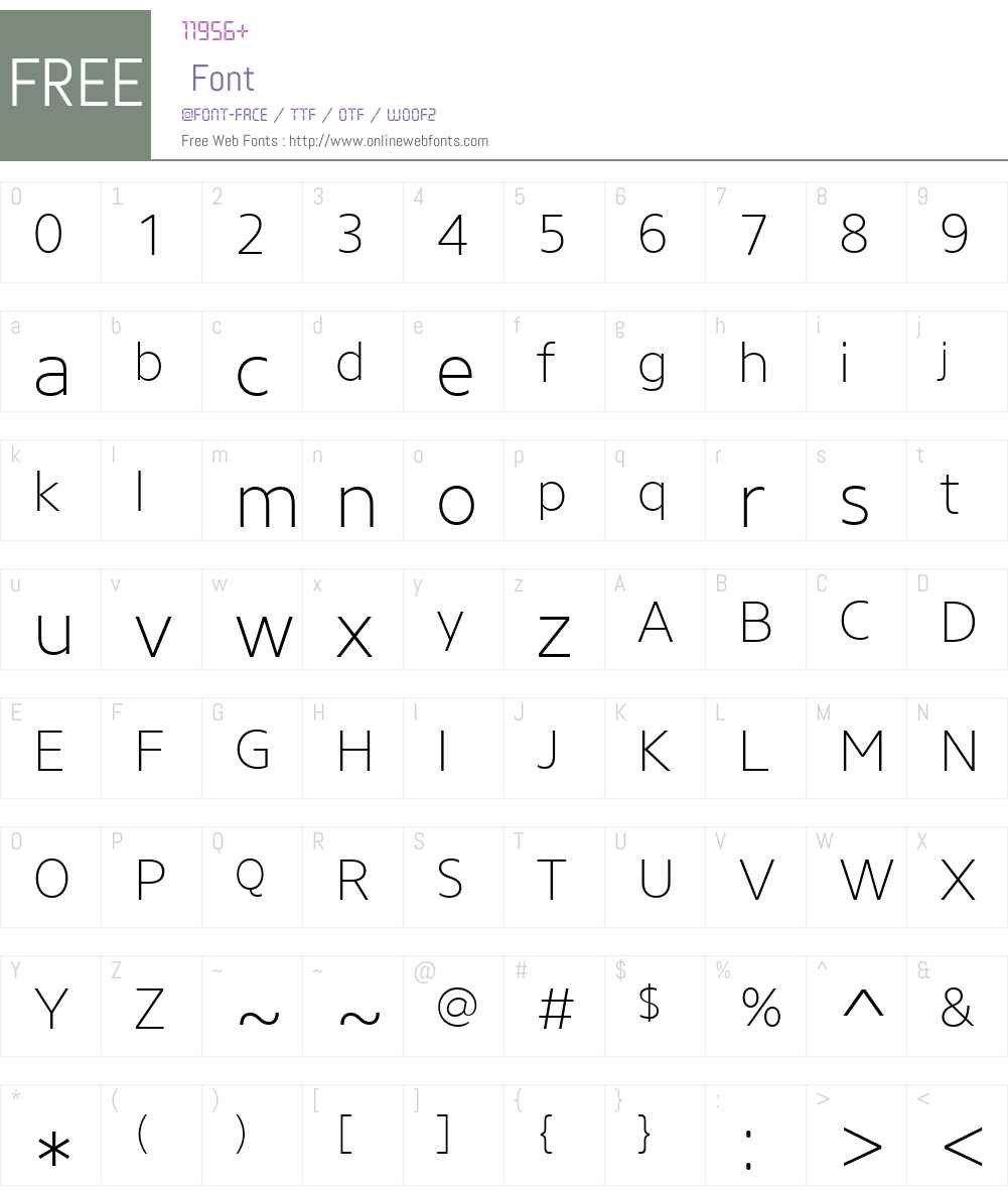 CoreSansNW01-25ExtraLight Font Screenshots