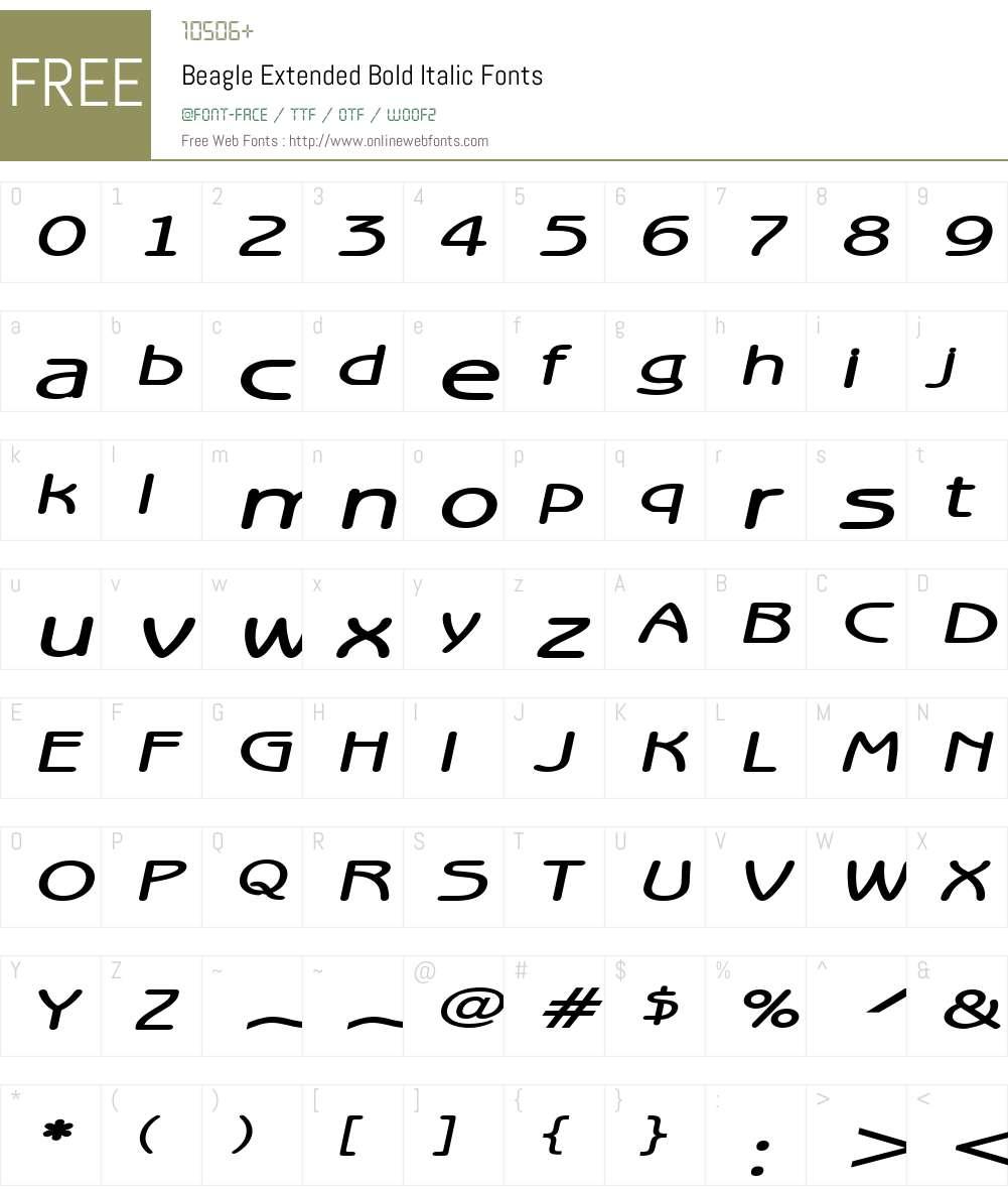 Beagle Extended Font Screenshots