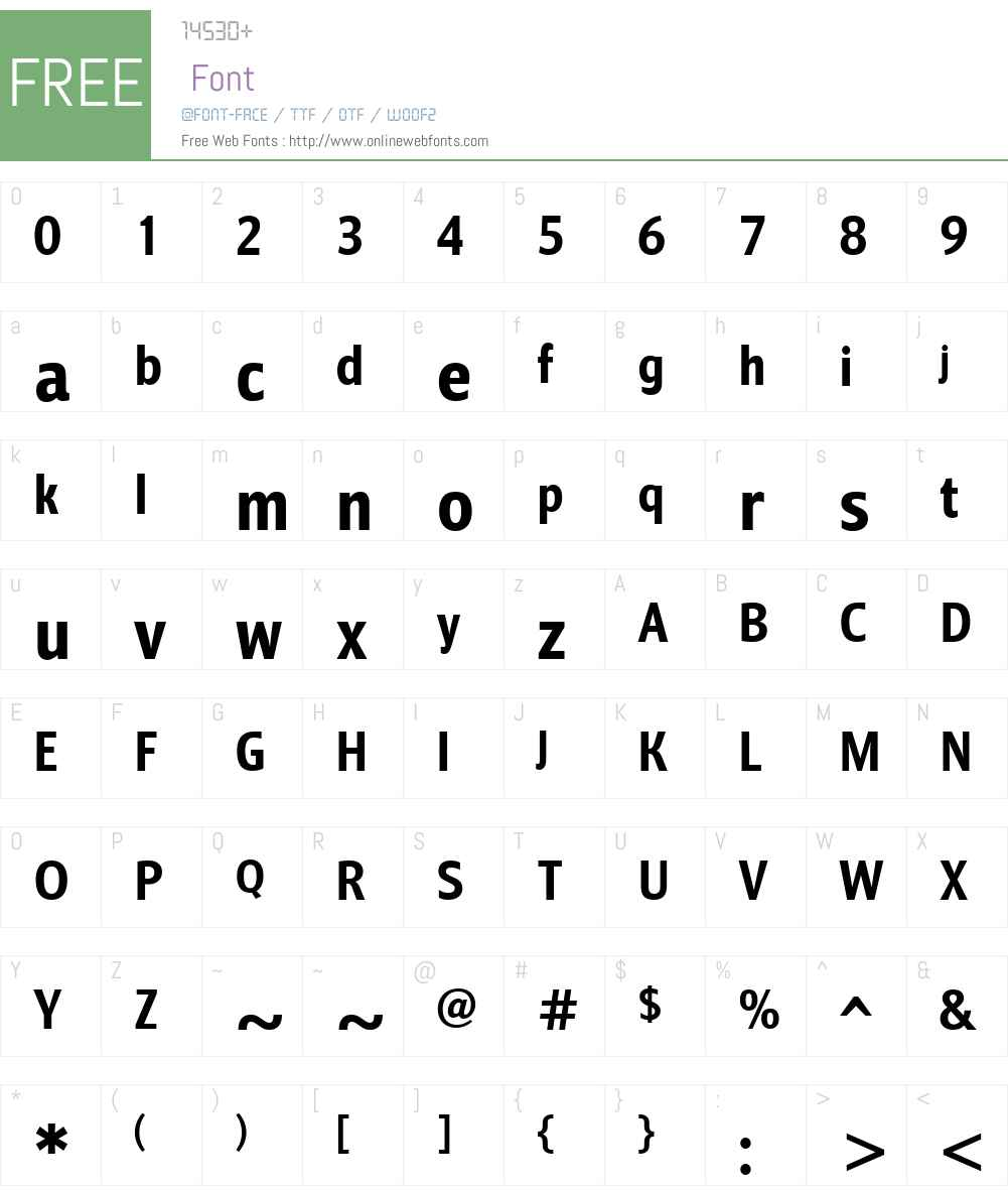 BarnaulGroteskW00-ExtraBold Font Screenshots