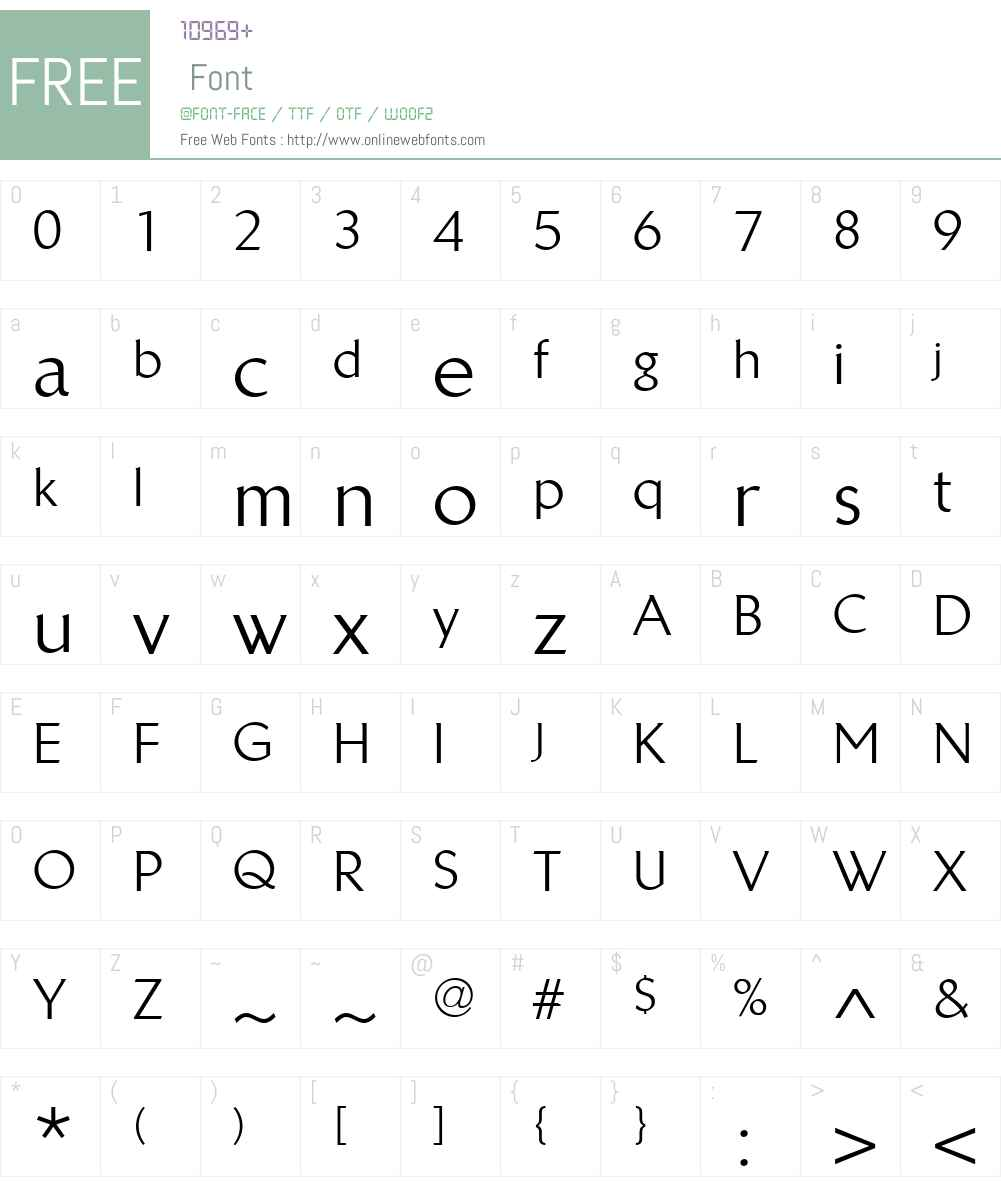 LinotypeBreweryW01-Regular Font Screenshots