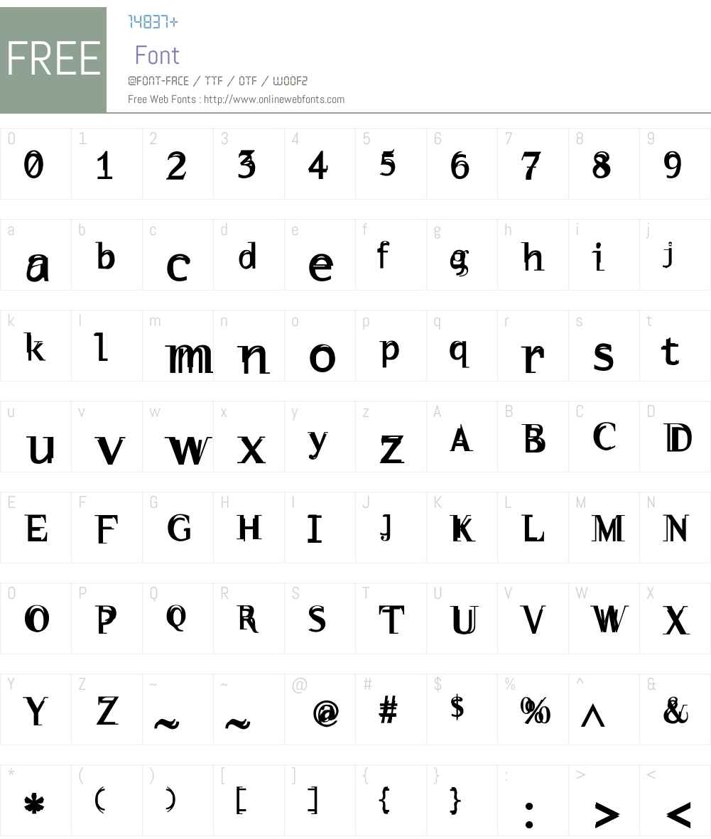 WalNuss Font Screenshots