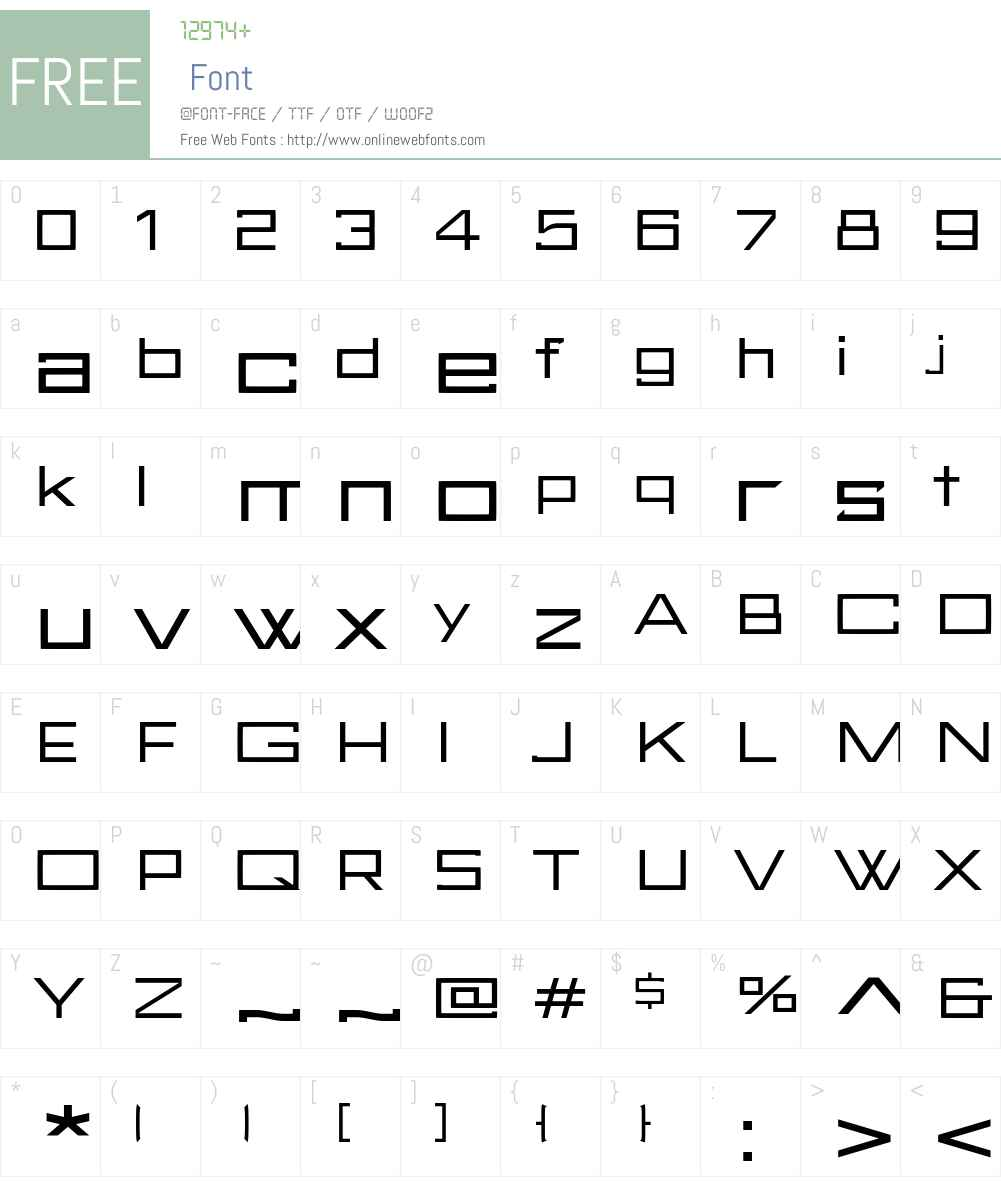 FuturBlock Font Screenshots