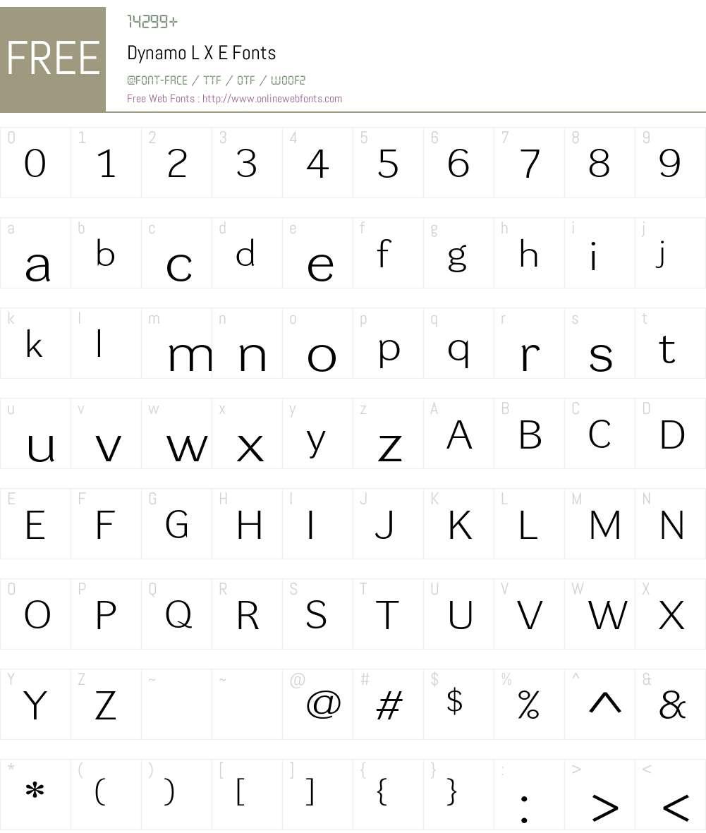Dynamo LXE Font Screenshots
