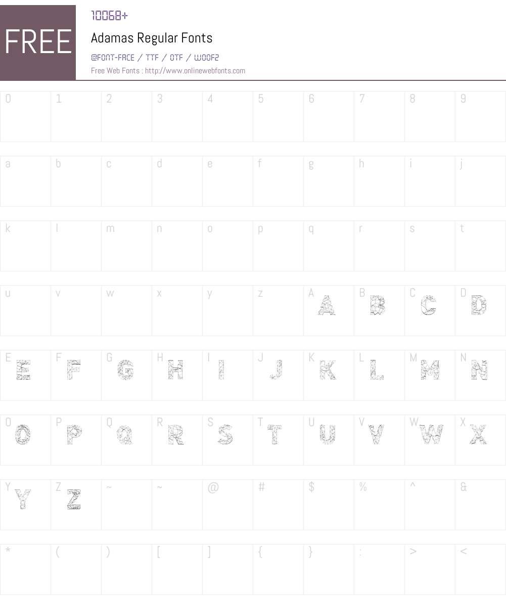 Adamas Font Screenshots