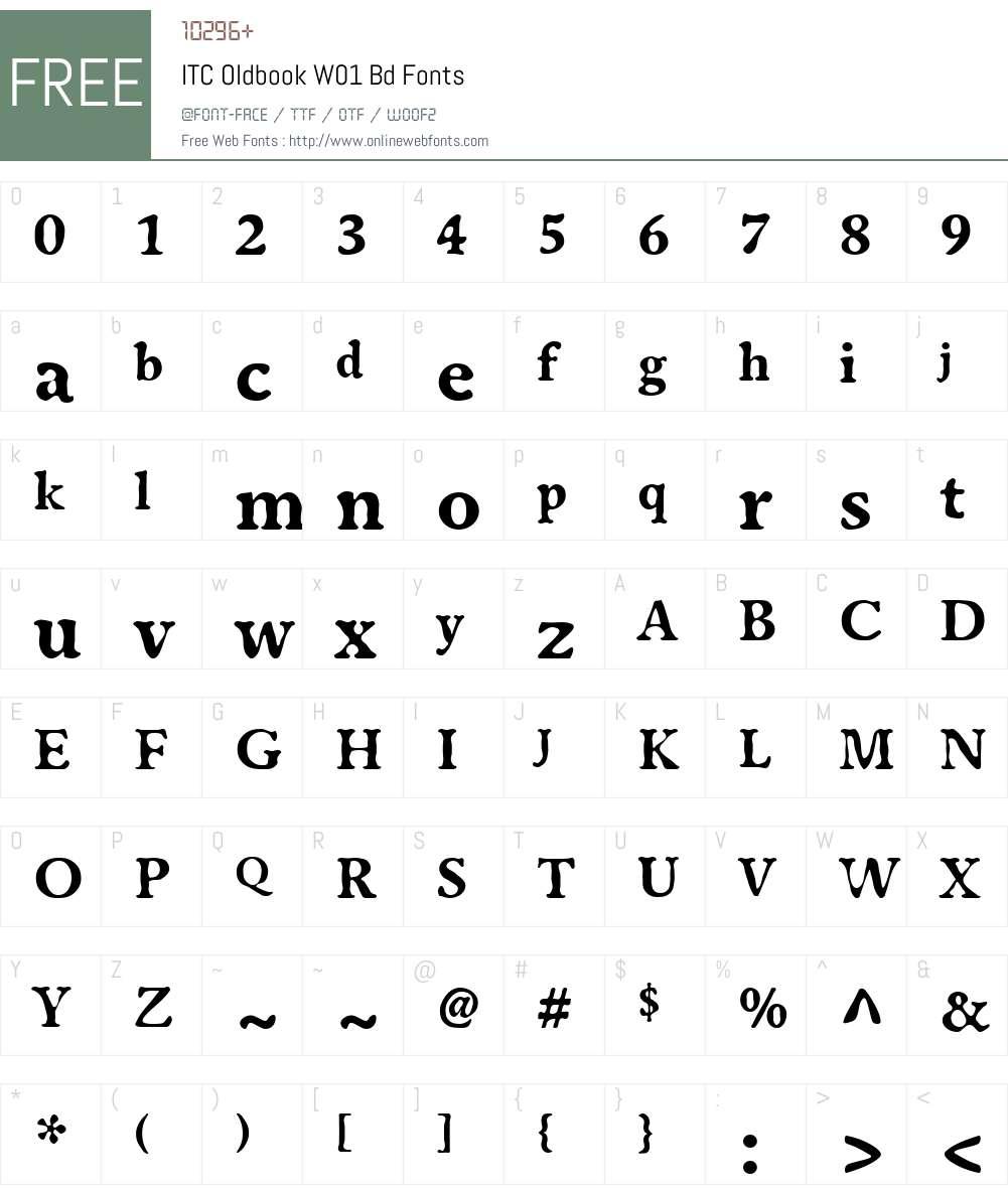 ITCOldbookW01-Bd Font Screenshots