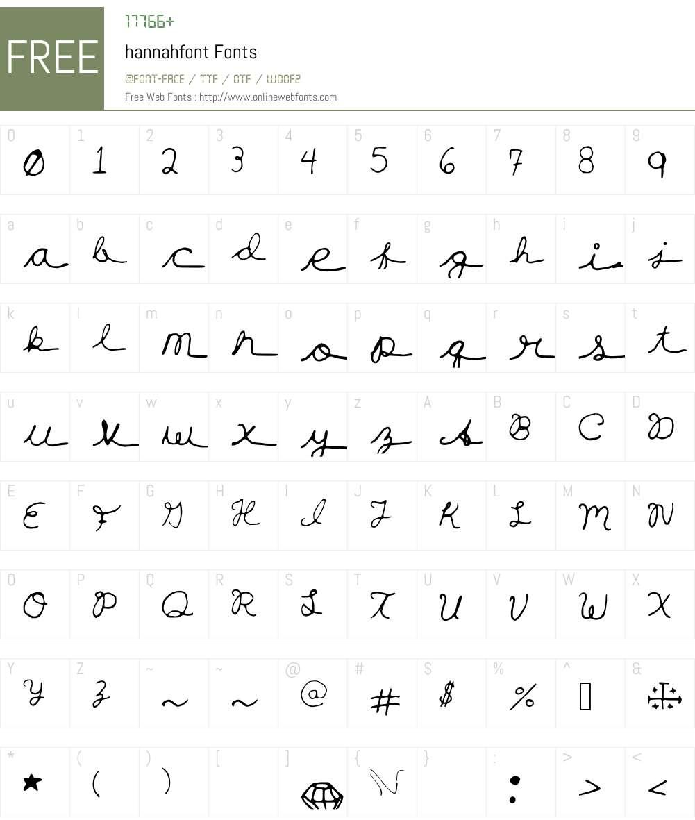 hannahfont Font Screenshots
