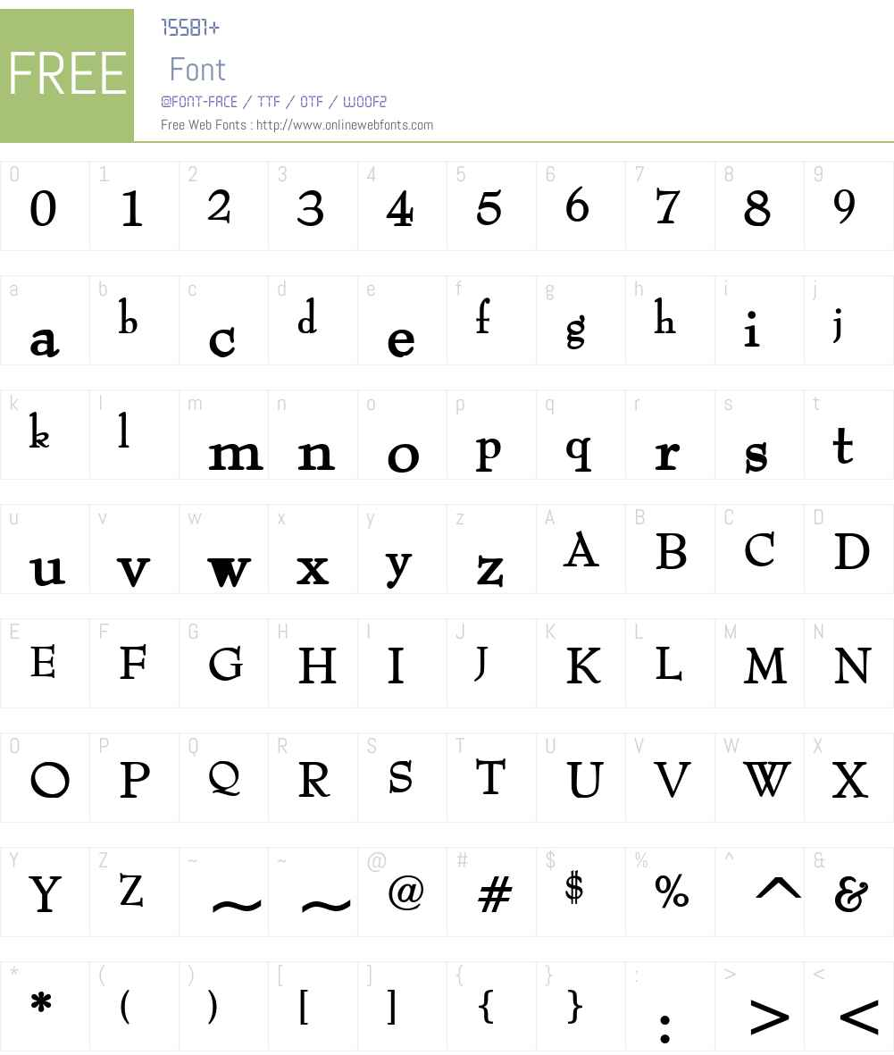 Bernhart Font Screenshots