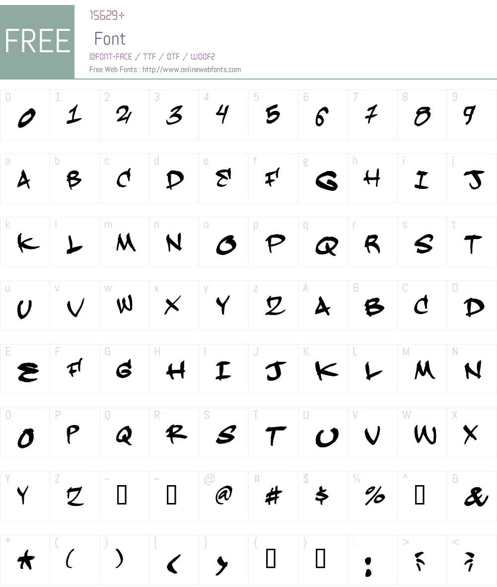 Hardkaze Font Screenshots