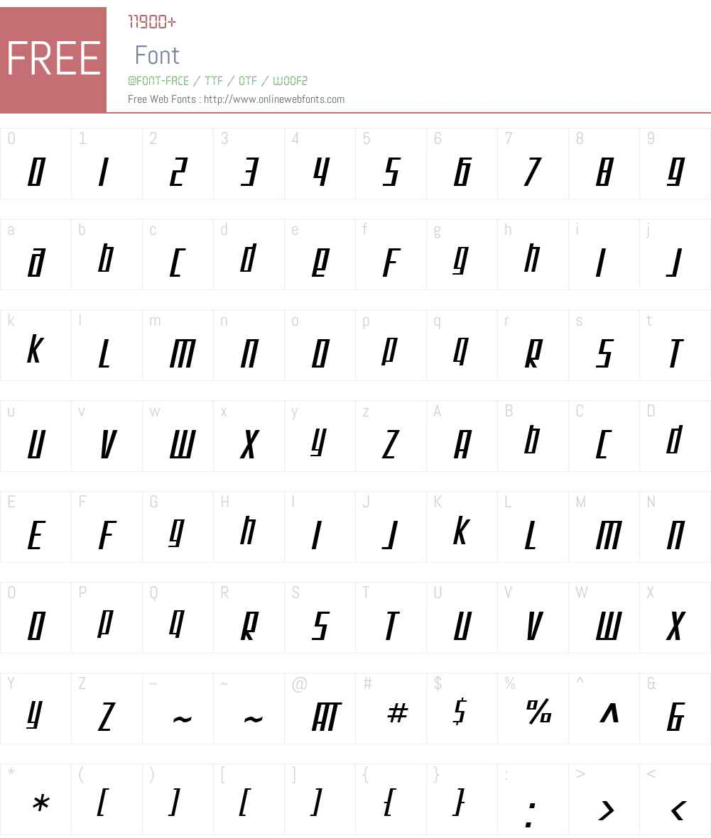 SF Square Root Font Screenshots