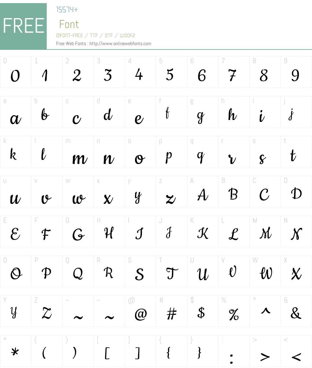 Cookie Font Screenshots