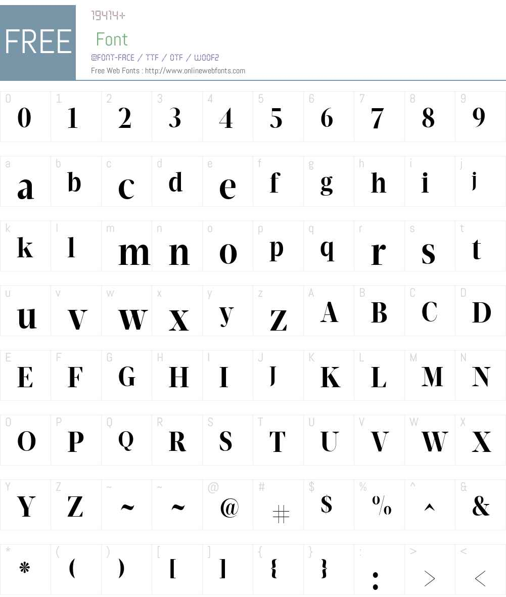 Velino Poster Font Screenshots