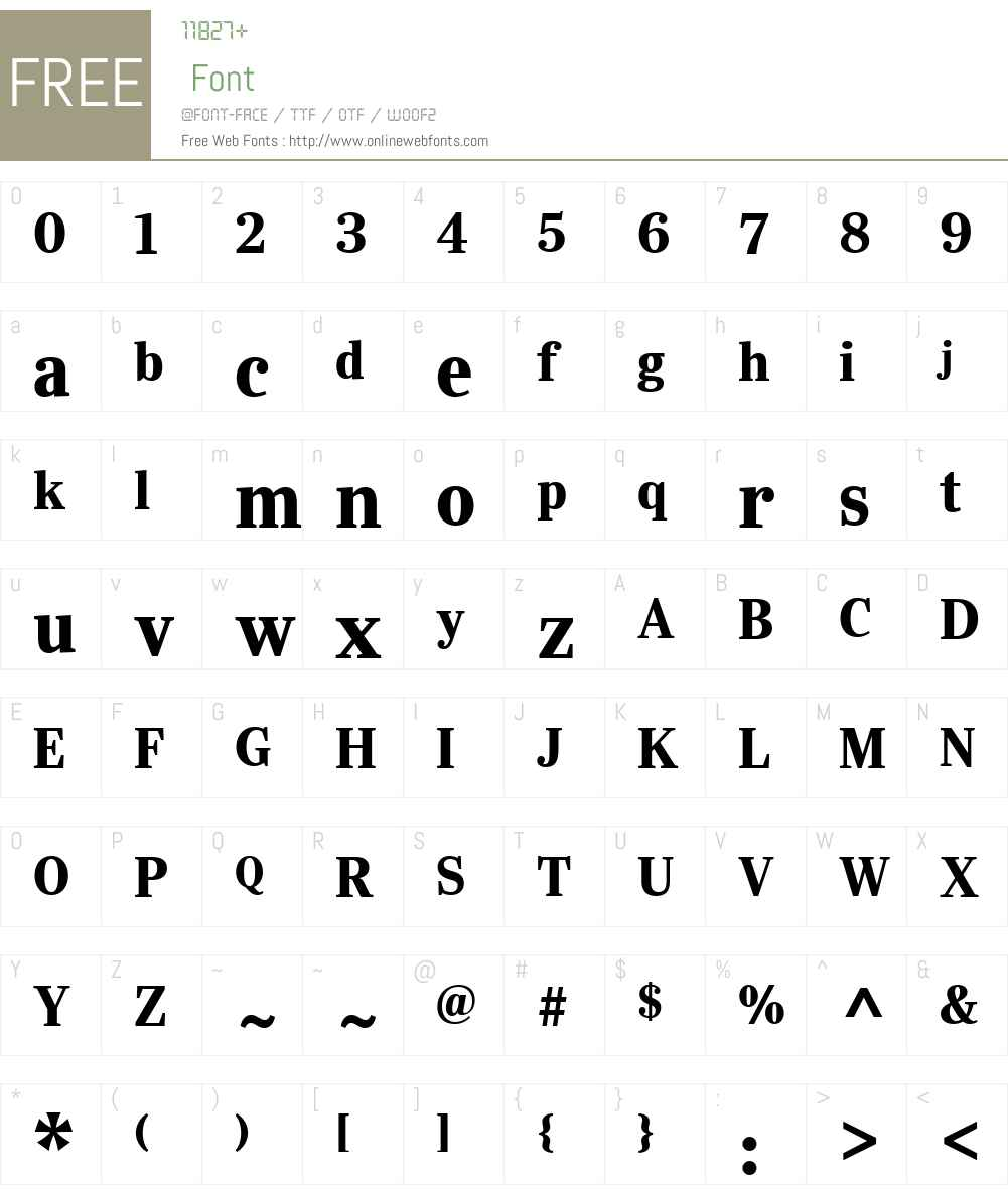 YsobelW01-DispBd Font Screenshots