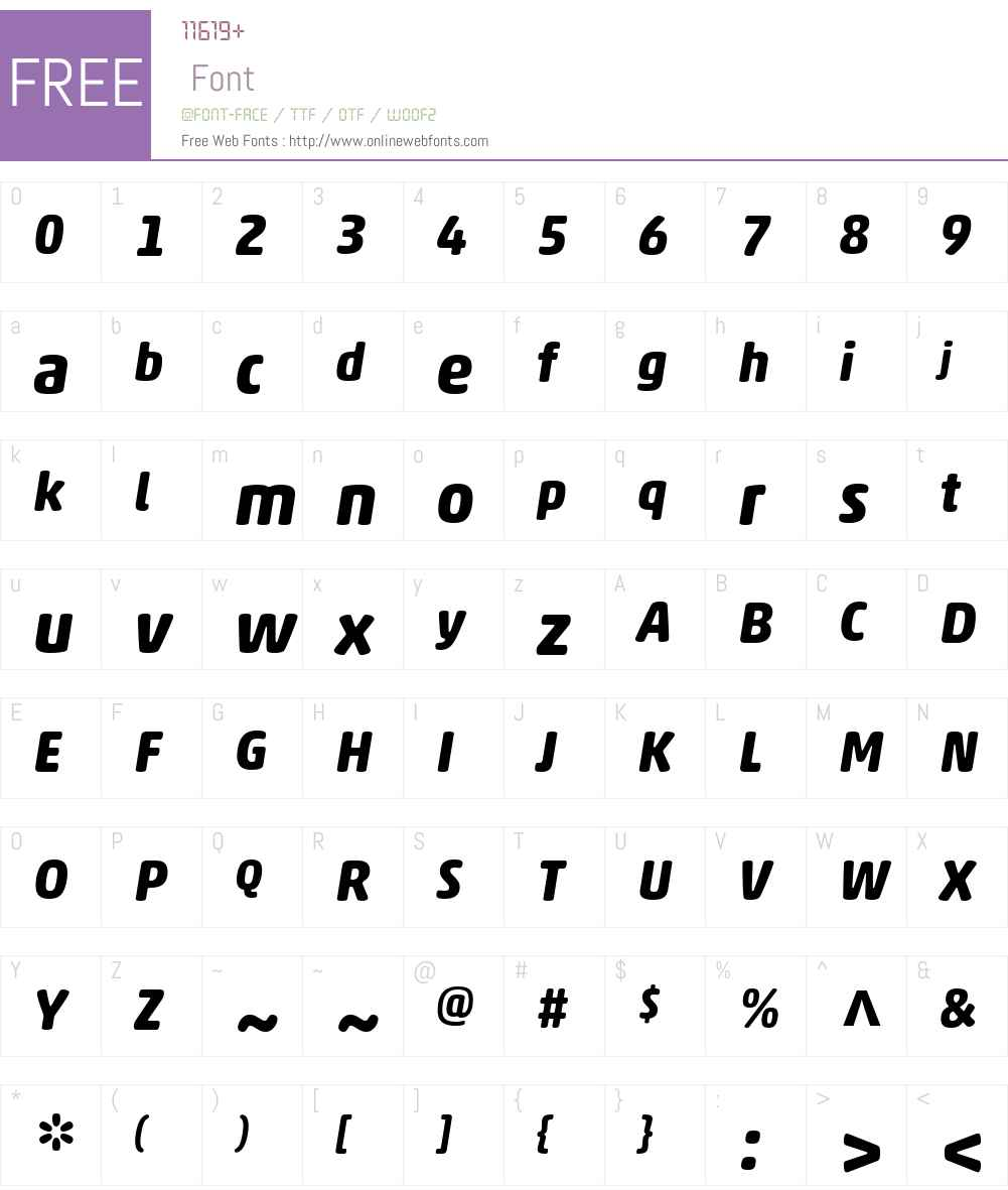 AkkoRoundedW01-BoldItalic Font Screenshots