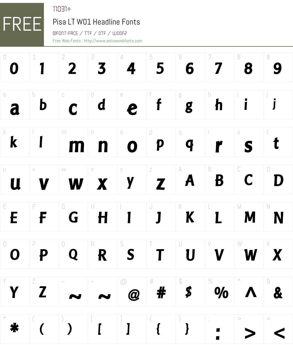 PisaLTW01-Headline Font Screenshots