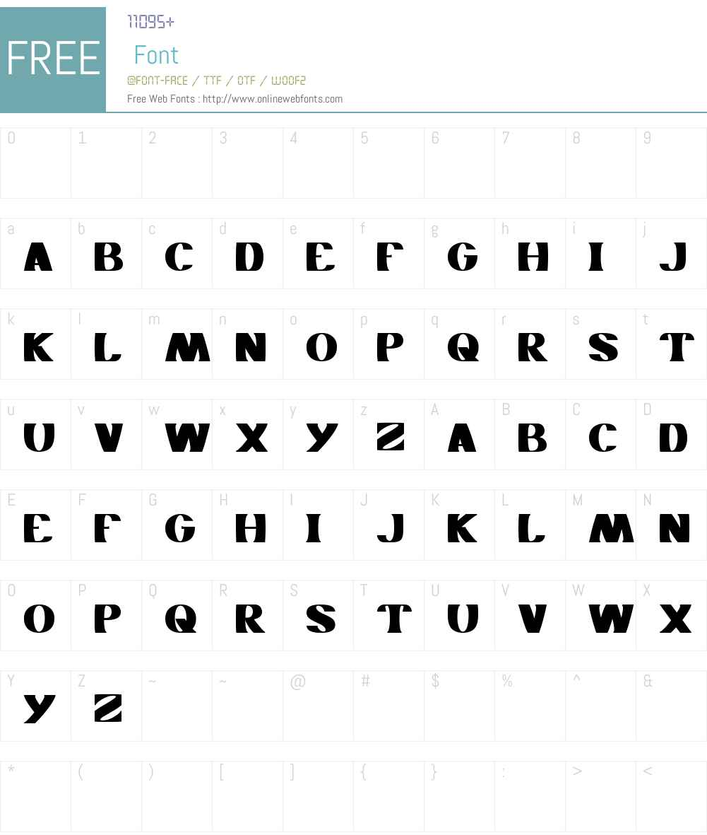 MONOCHROME Font Screenshots