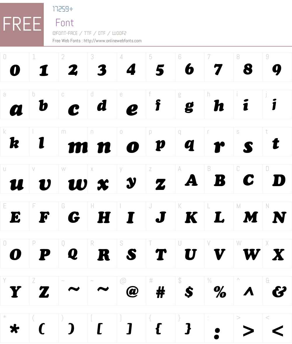 QTKooper Font Screenshots
