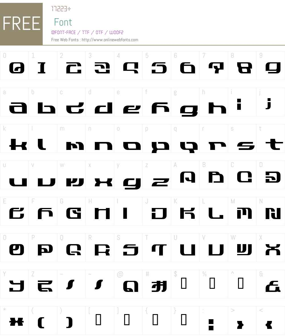 Cobra3 Font Screenshots
