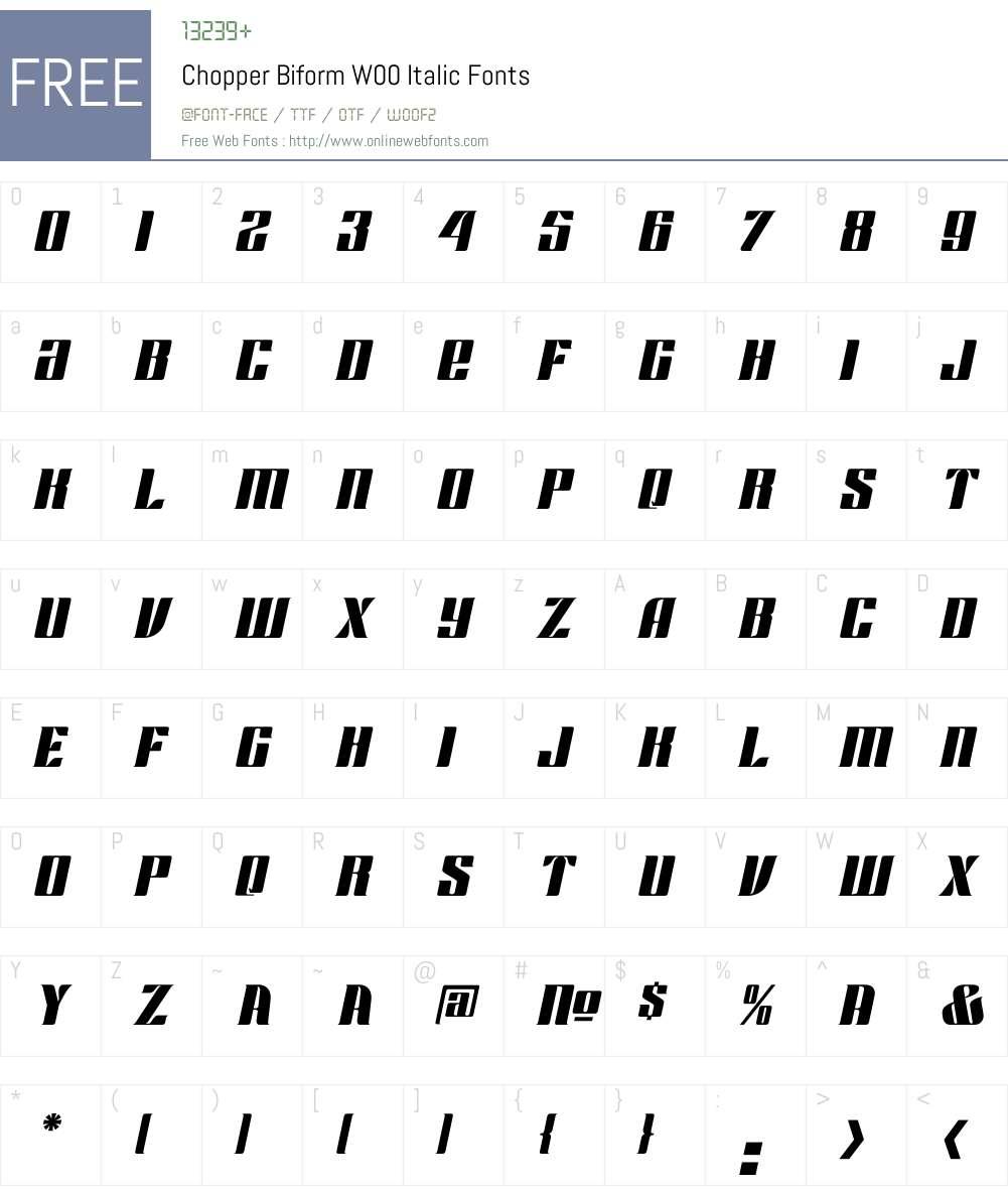 Chopper Font Screenshots
