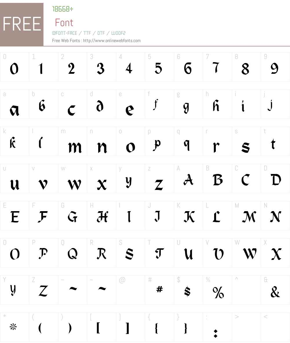 ZEPPLIN Font Screenshots