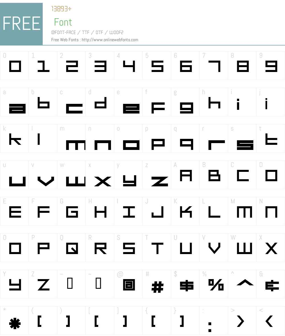 SF Square Head Font Screenshots