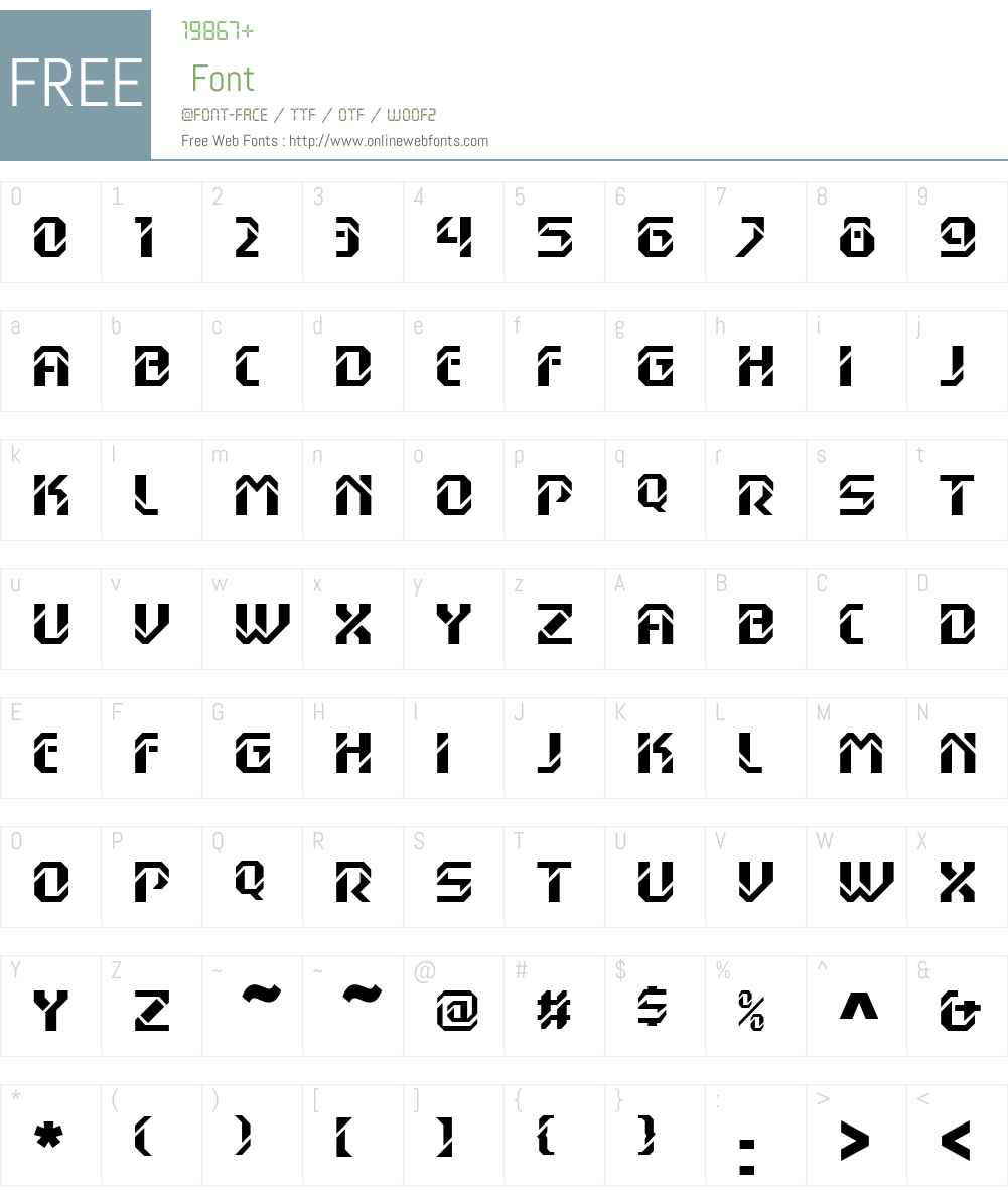 DexGothicLTW01 Font Screenshots