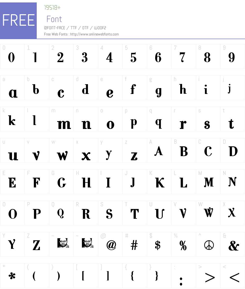 CantabileBold Font Screenshots