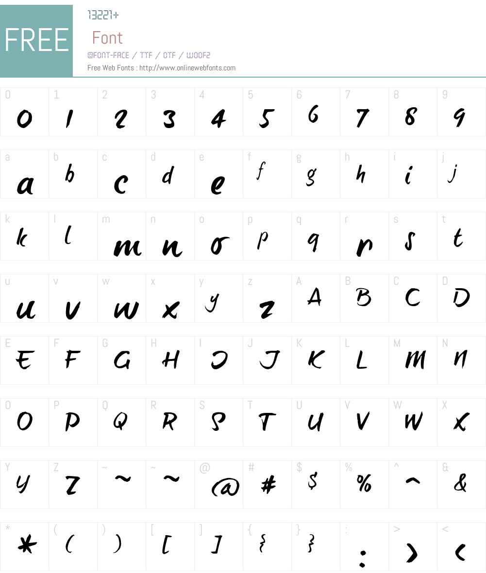 BrushTipTerrenceW00-Reg Font Screenshots
