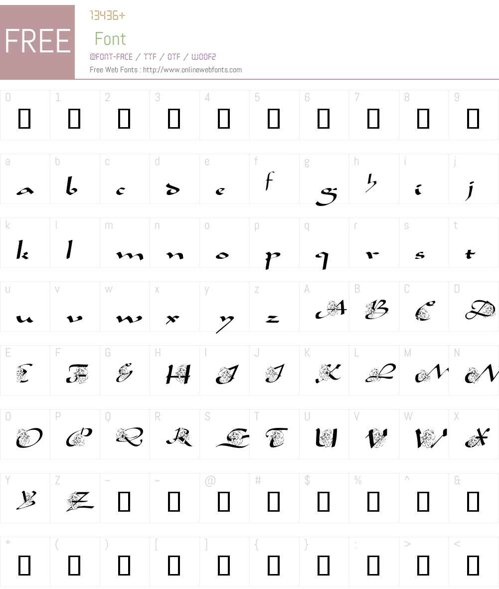 AL Princess Jasmine Font Screenshots