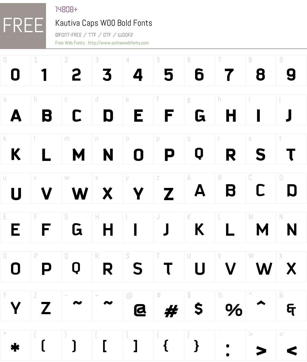 KautivaCapsW00-Bold Font Screenshots