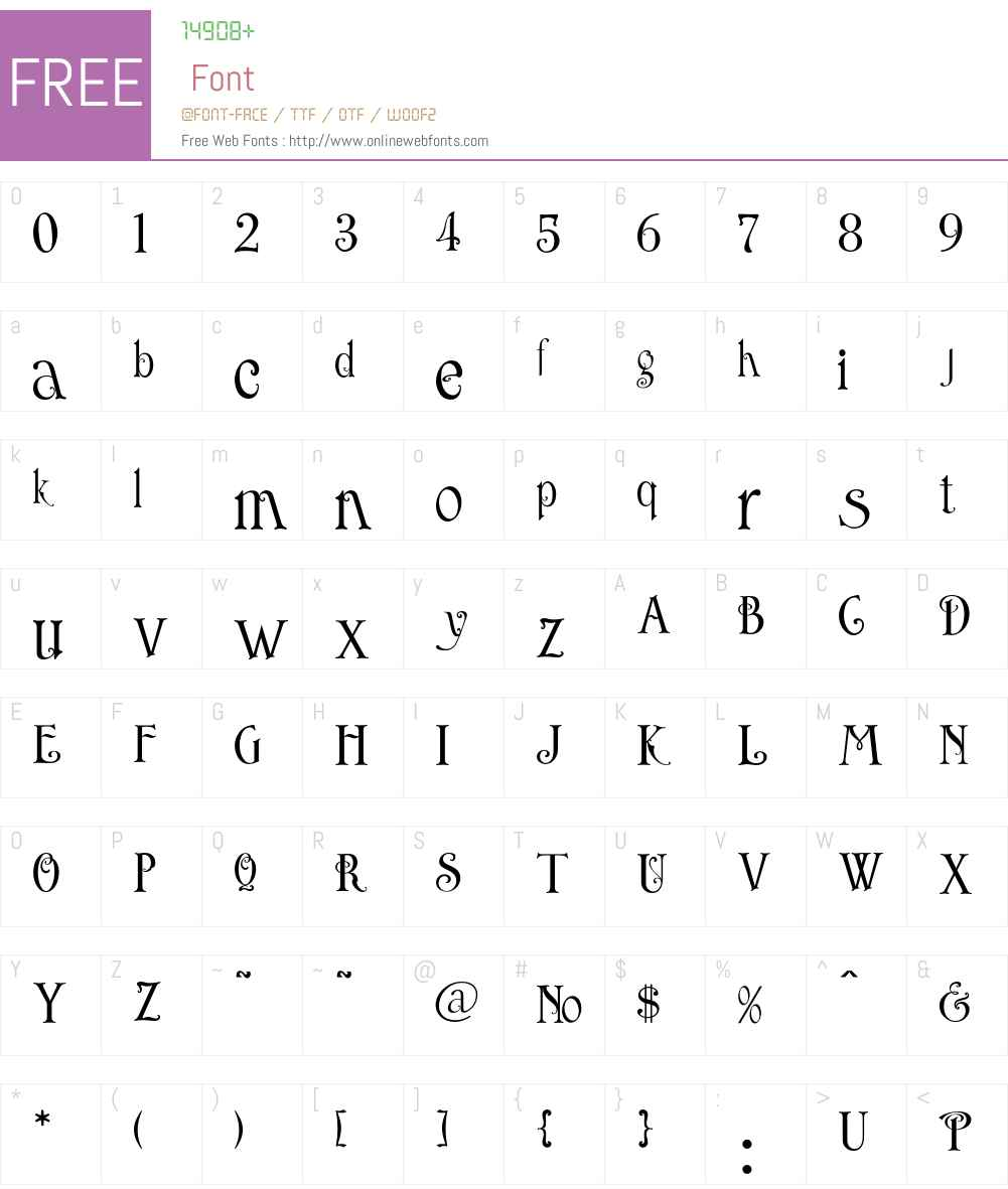 LHF English Rose Font Screenshots