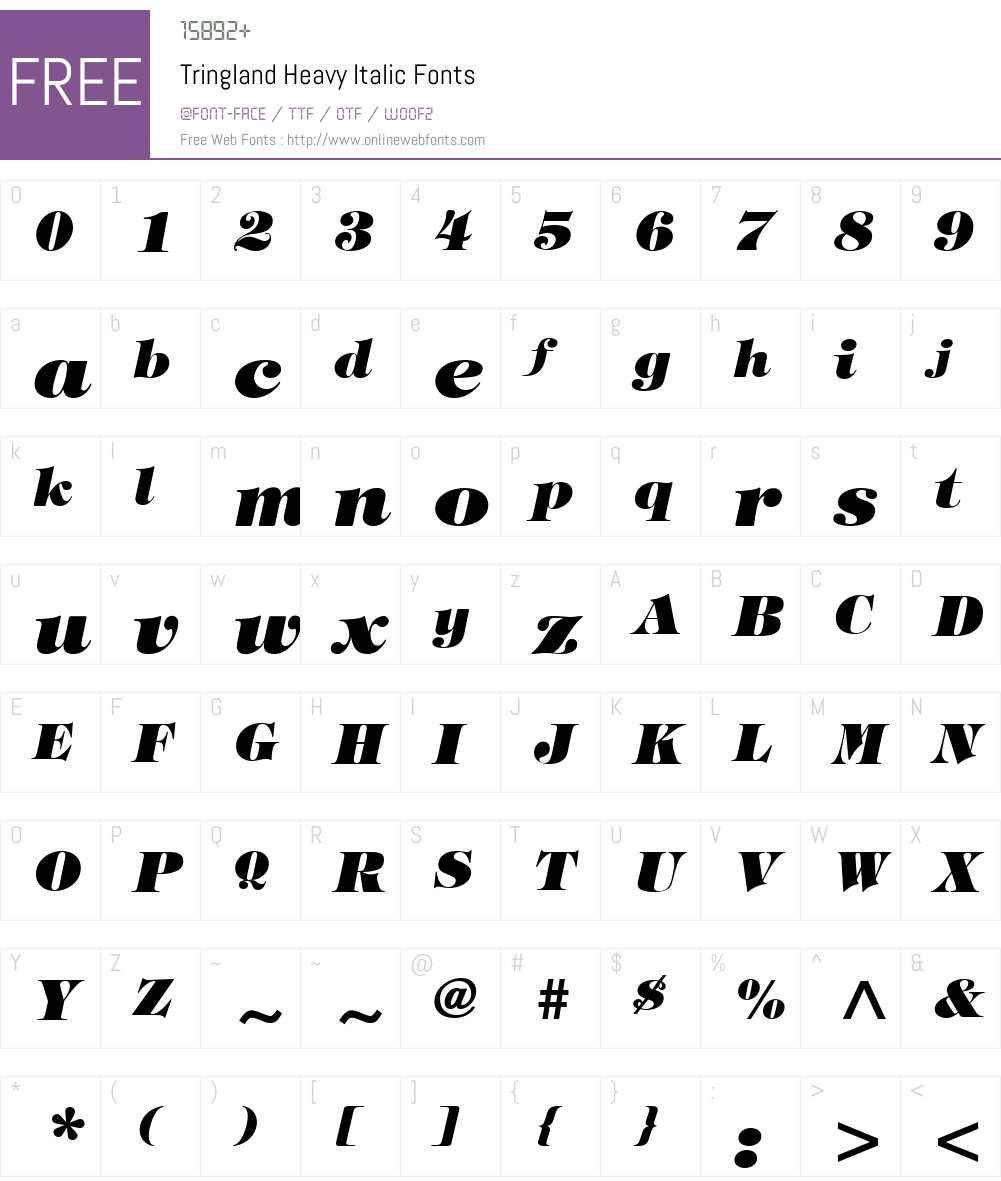 Tringland Heavy Font Screenshots