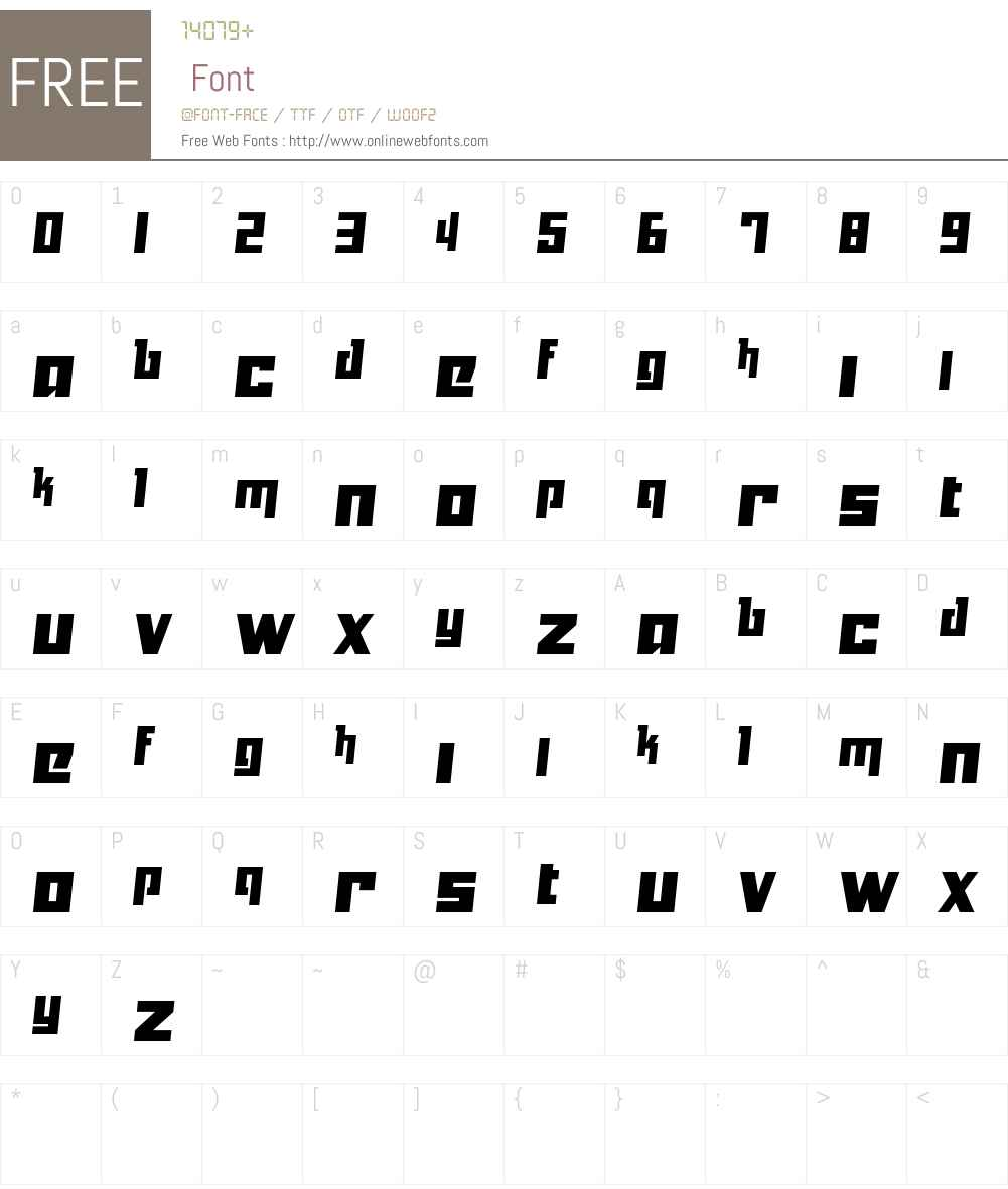 Yukarimobile Font Screenshots