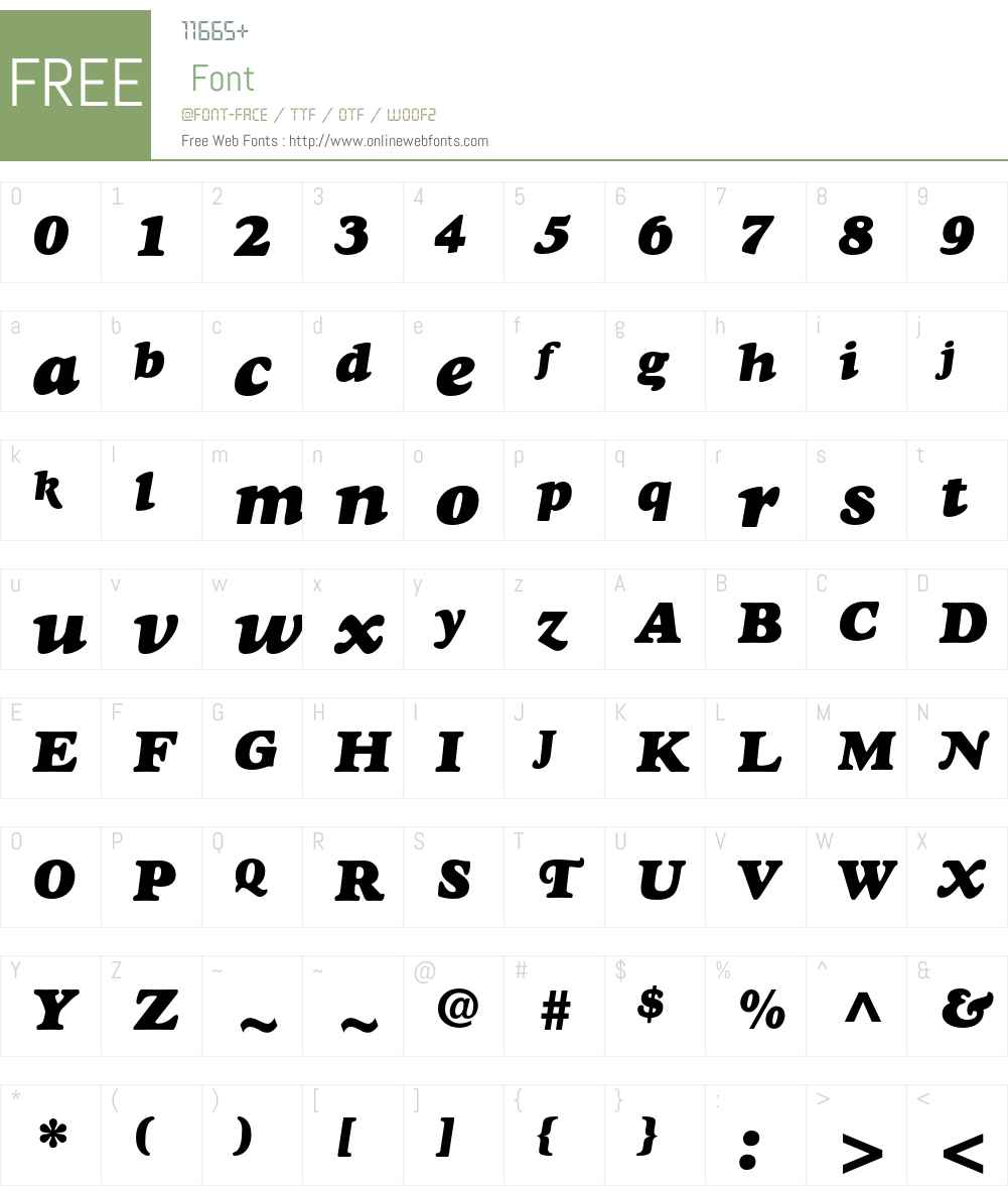 Goudy Heavyface Std Font Screenshots