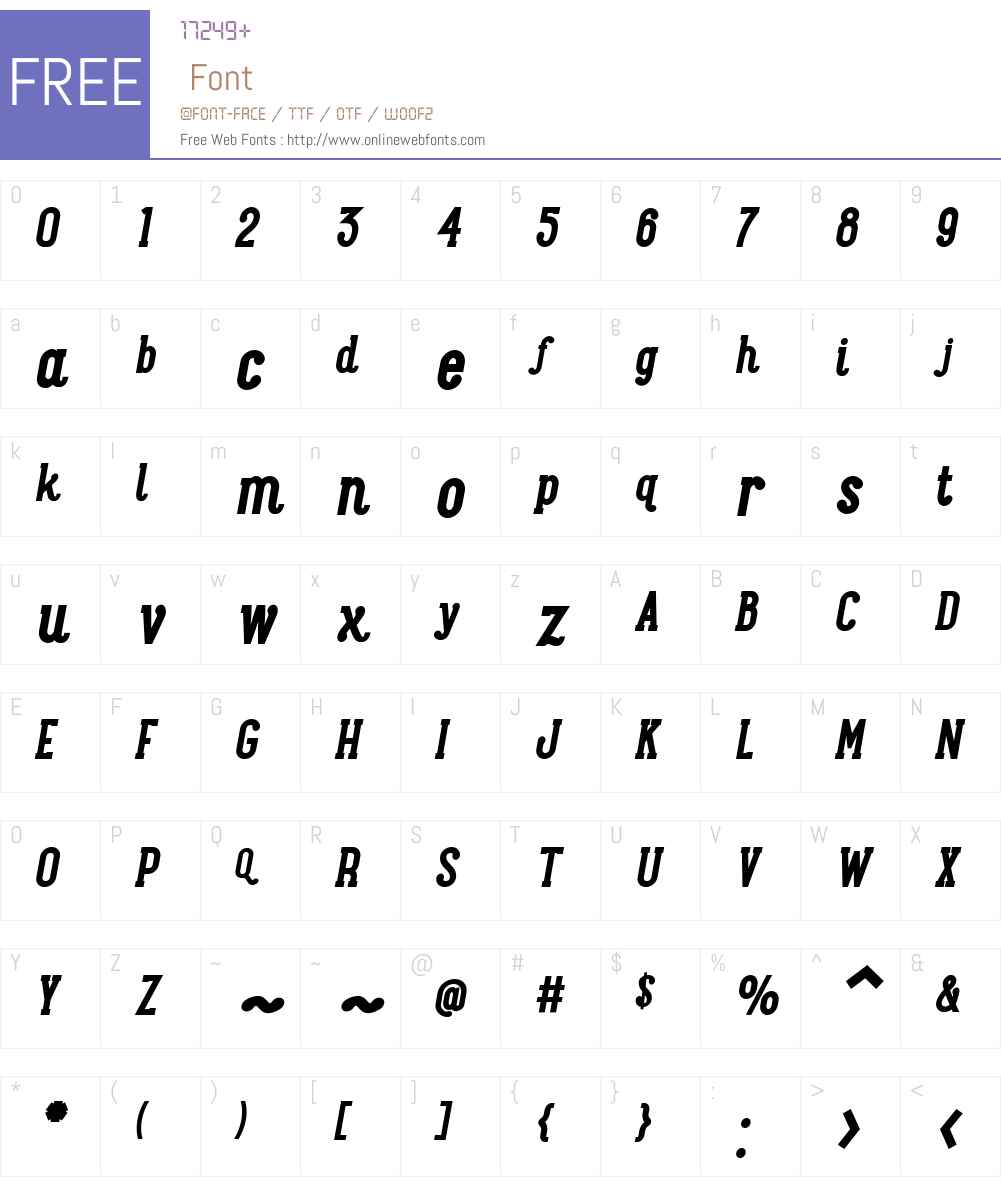 MaxwellSlabW01-BoldItalic Font Screenshots