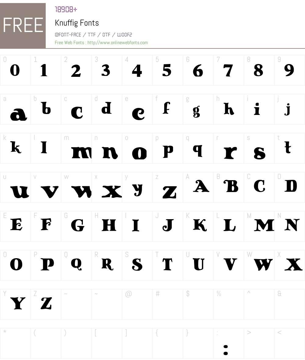 Knuffig Font Screenshots