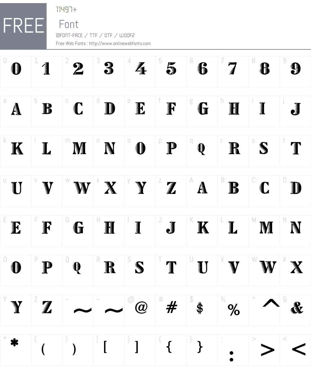 Zebraesq Font Screenshots