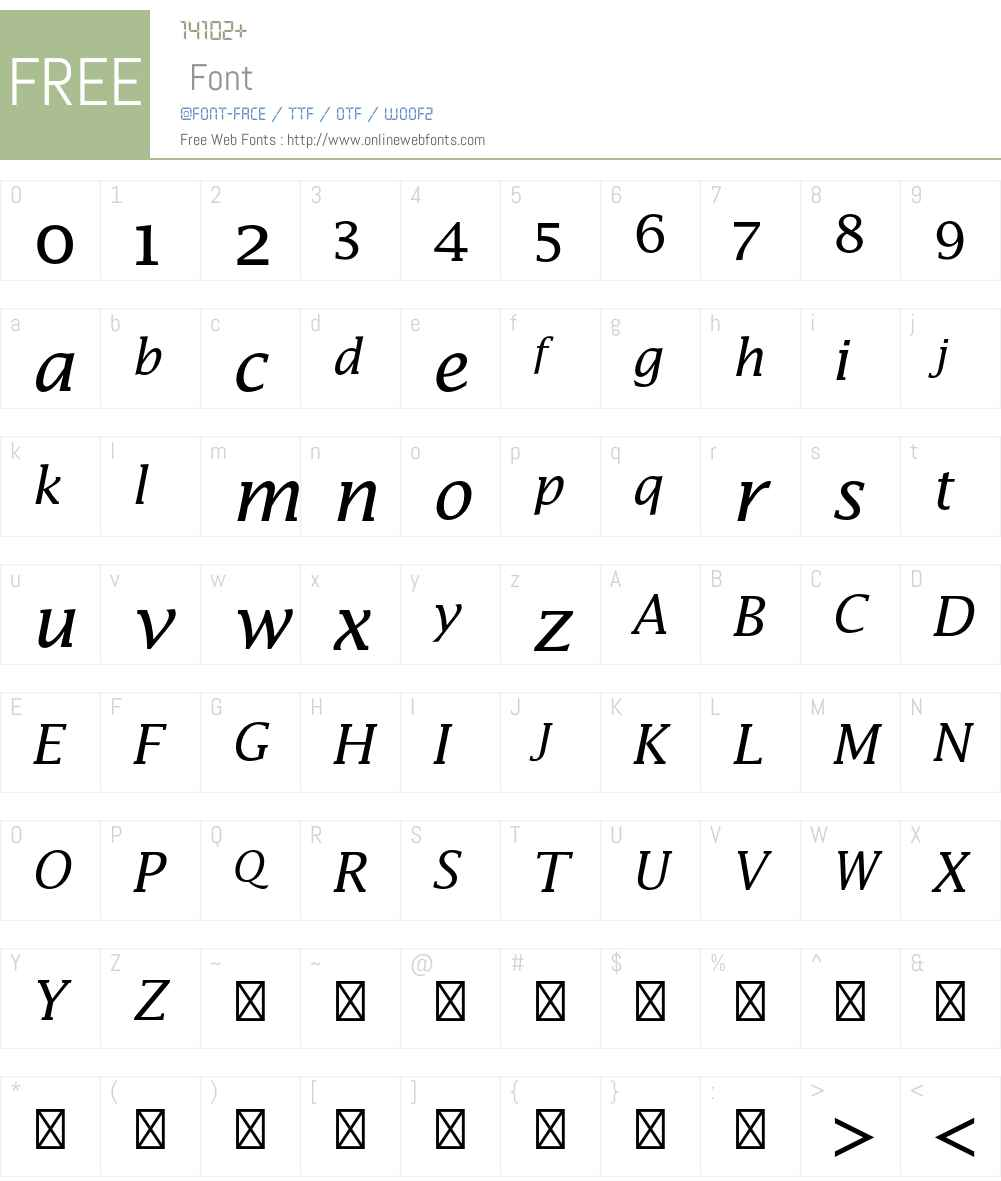 Lucida Math Std Font Screenshots