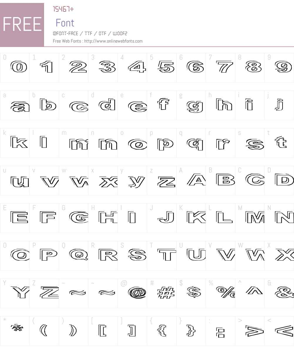Ryckindor Font Screenshots