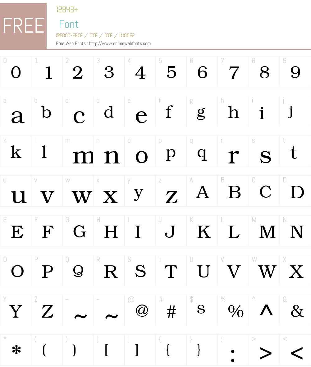 KacstOne Font Screenshots