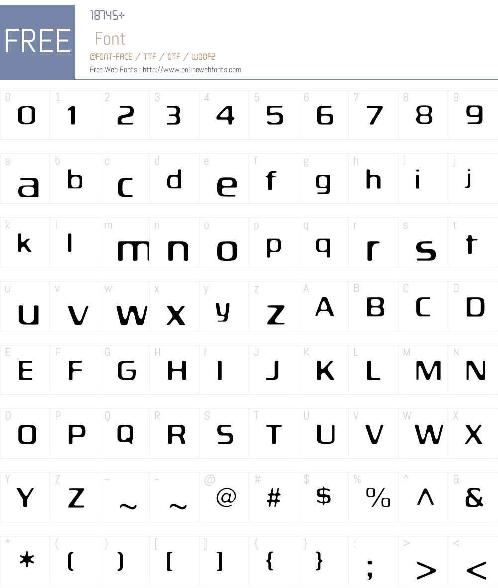 BiortecLight Font Screenshots