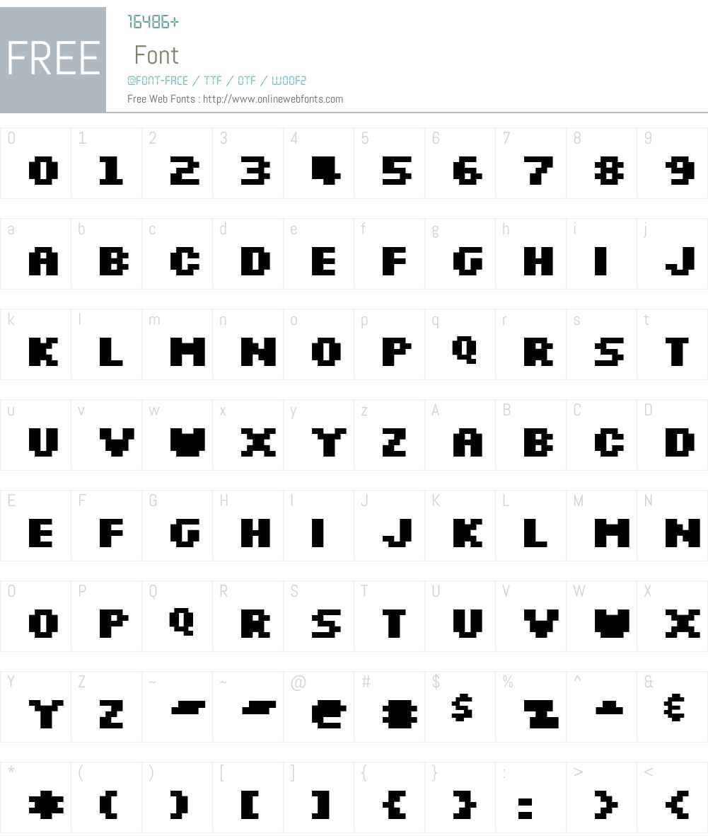 Silkscreen Expanded Font Screenshots