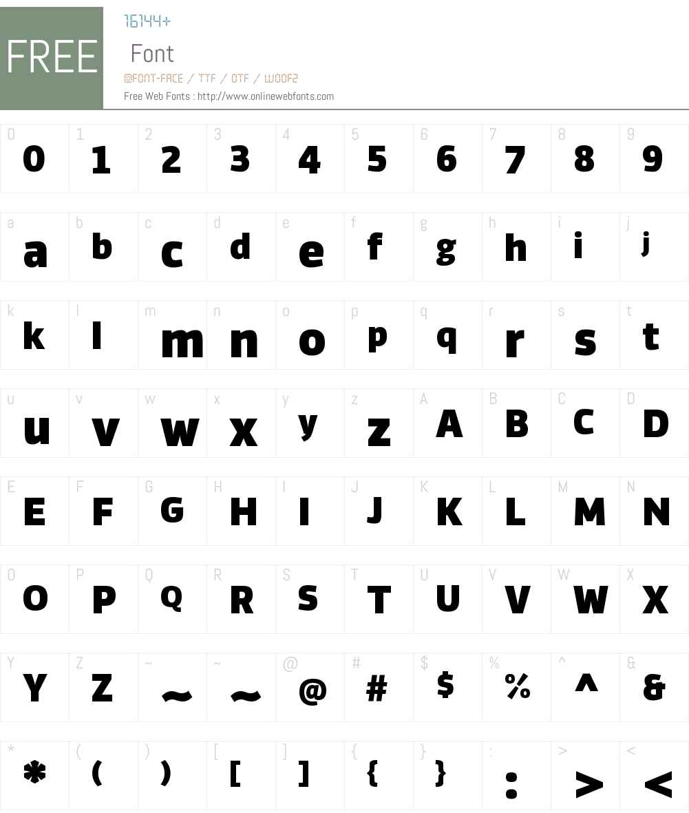 Vinkel Md Font Screenshots