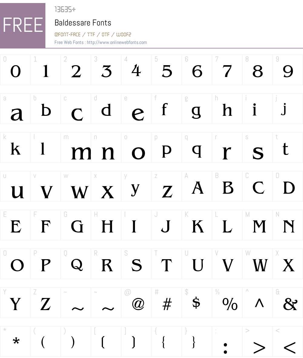 Baldessare Font Screenshots