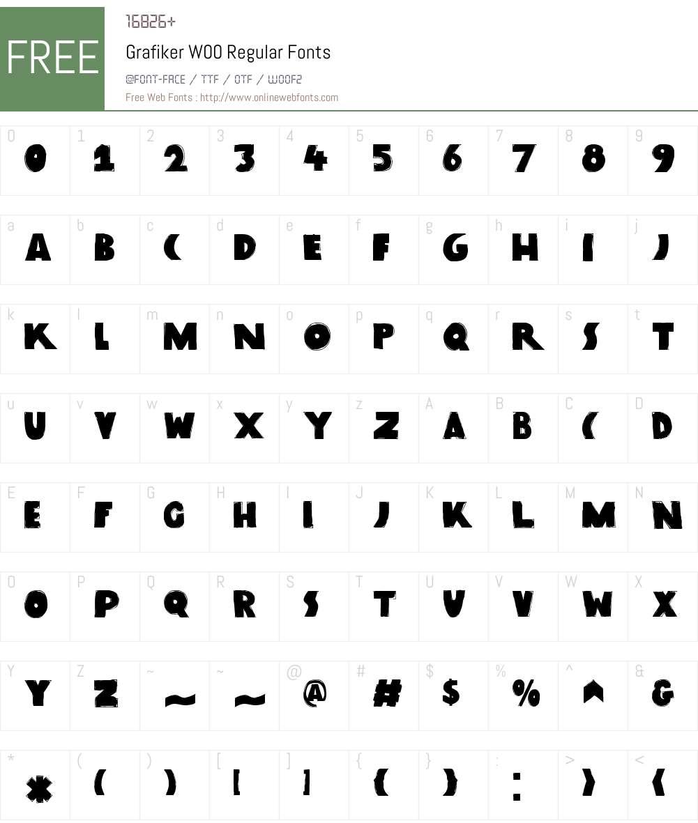 GrafikerW00-Regular Font Screenshots
