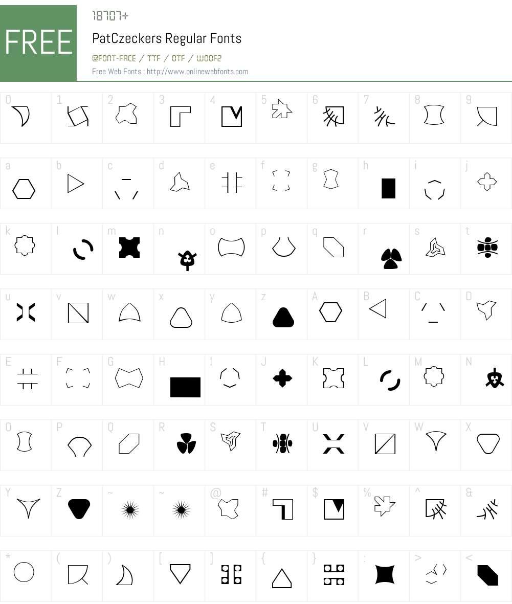 PatCzeckers Font Screenshots