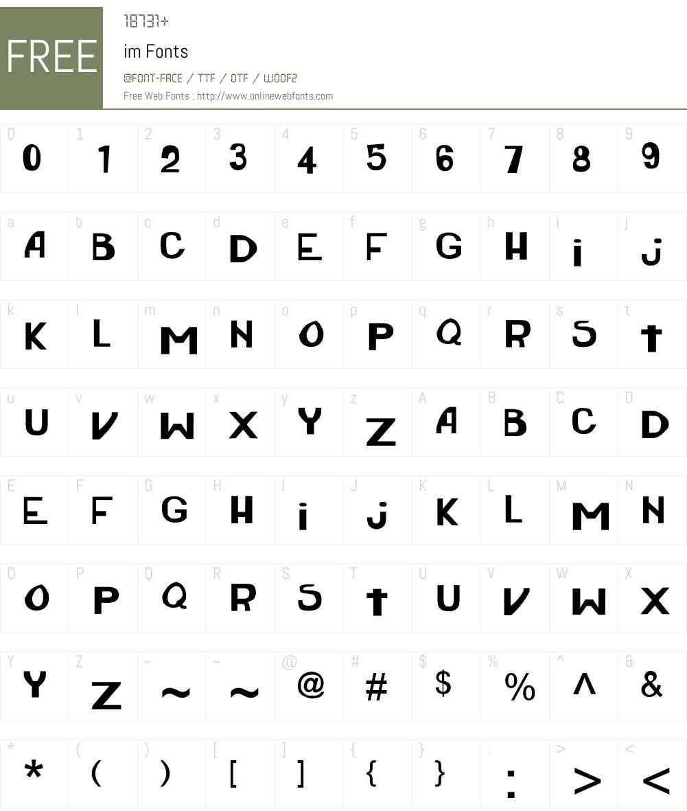 Aria Font Screenshots