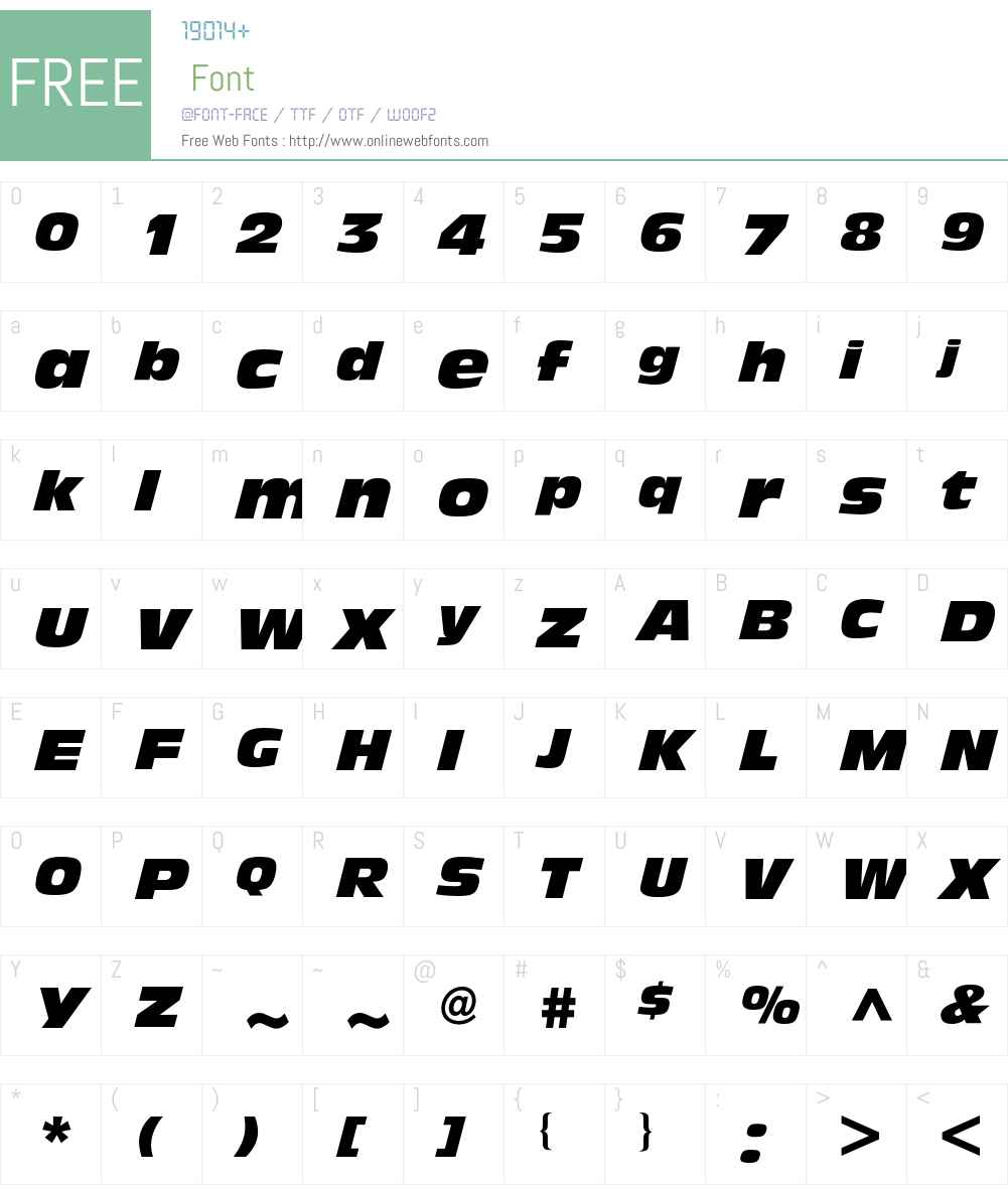Antique Olive BQ Font Screenshots
