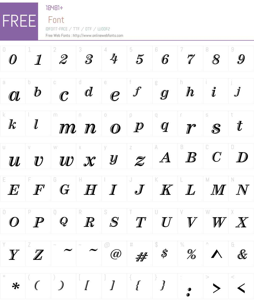 CenturyHandtEF Font Screenshots