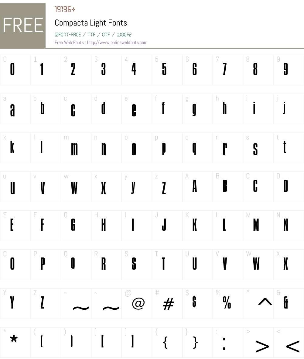 Compacta Font Screenshots