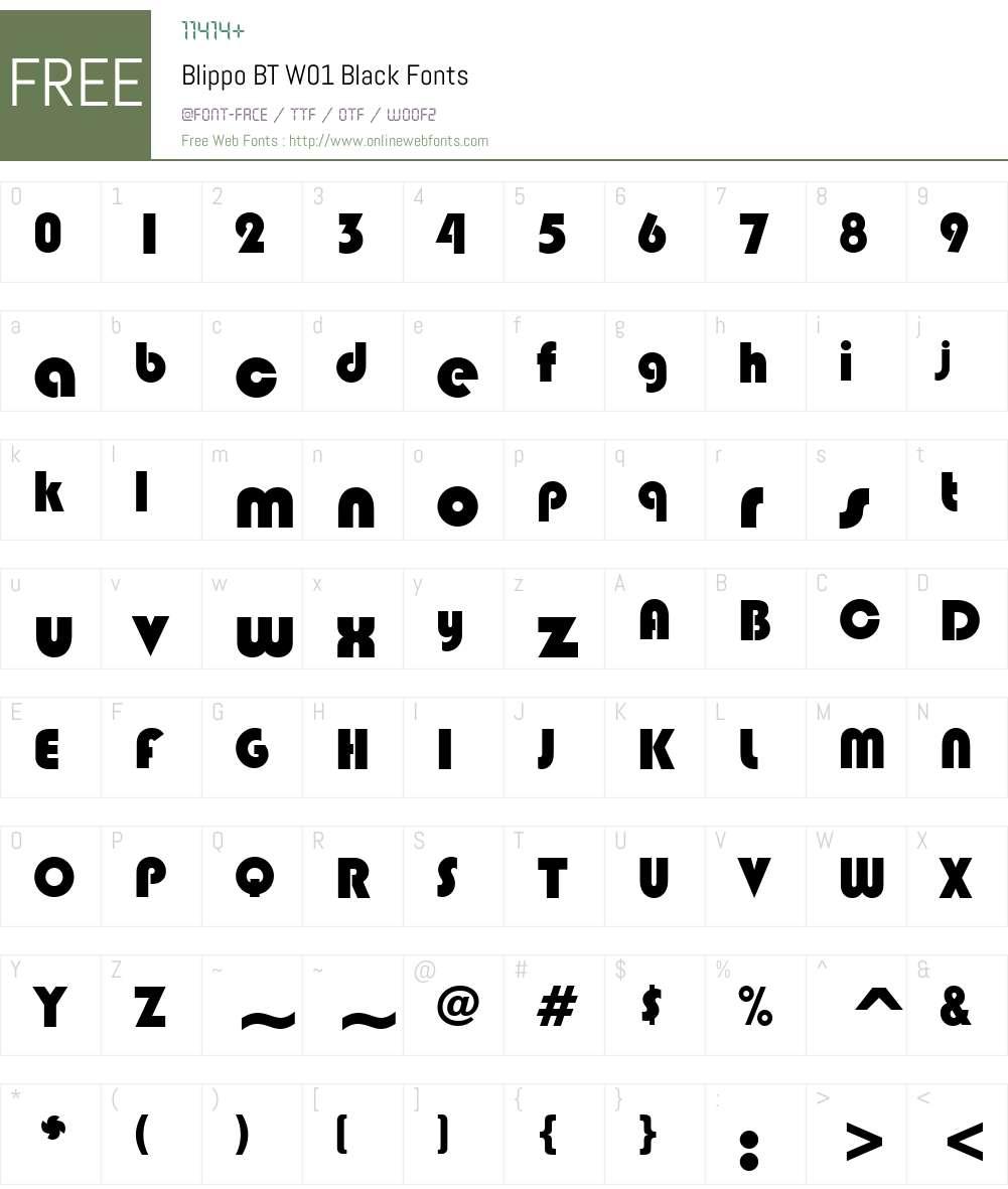 BlippoBTW01-Black Font Screenshots